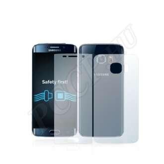 Samsung Galaxy S6 Edge (elő- és hátlap) kijelzővédő fólia