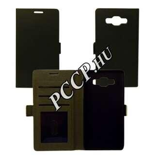 Samsung Galaxy S7 Edge fekete flip oldalra nyíló tok