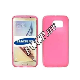 Samsung Galaxy S7 Edge pink vékony szilikon hátlap