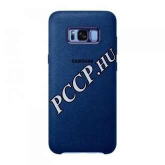 Samsung Galaxy S8Plusz kék alcantara bőr hátlap