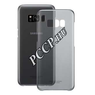Samsung Galaxy S8+ fekete clear cover tok