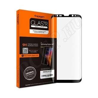 Samsung Galaxy S8 hajlított kijelzővédő fólia fekete színben
