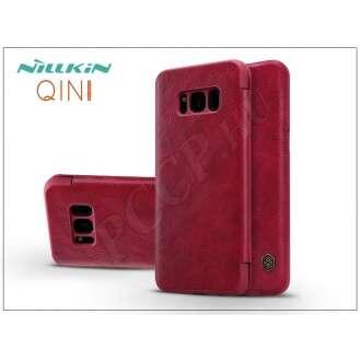 Samsung Galaxy S8 Plus piros oldalra nyíló flip tok