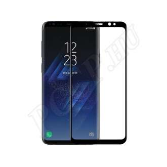 Samsung Galaxy S8 üveg kijelzővédő fólia fekete színben