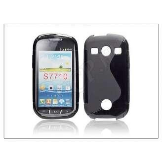 Samsung Galaxy Xcover 2 fekete szilikon hátlap