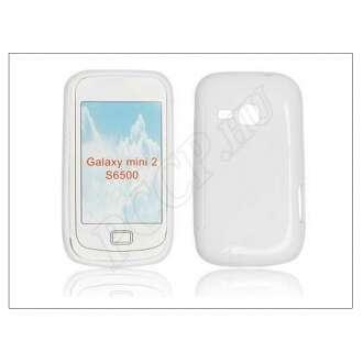 Samsung Galaxy Mini 2 fehér szilikon hátlap
