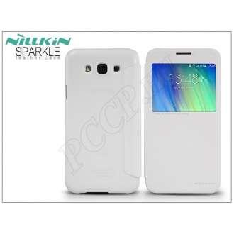 Samsung Galaxy E7 fehér oldalra nyíló flip tok