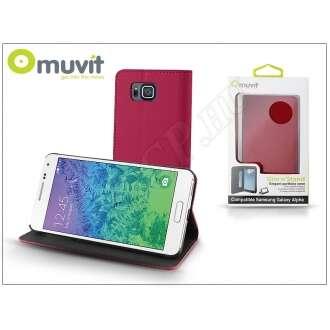 Samsung Galaxy Alpha pink flip tok