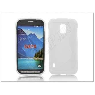 Samsung Galaxy S5 Active fehér szilikon hátlap