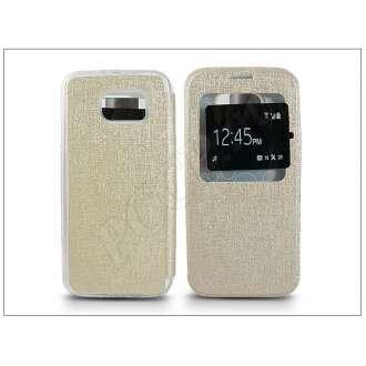 Samsung Galaxy S6 arany oldalra nyíló flip tok