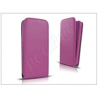 Apple Iphone 8 lila bőr flip tok