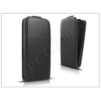 LG L80 fekete bőr flip tok