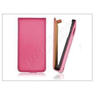 Samsung Galaxy S6 pink bőr flip tok