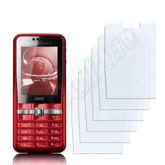 Sony Ericsson G502 kijelzővédő fólia