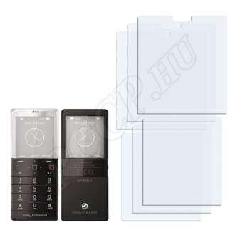 Sony Ericsson Xperia X5 Pureness (elő- és hátlap) kijelzővédő fólia