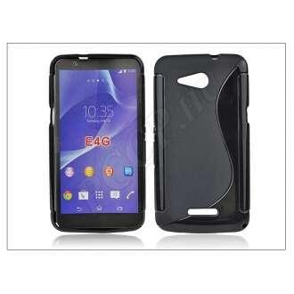 Sony Xperia E4G (E2003) fekete szilikon hátlap
