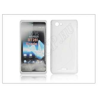 Sony Xperia J fehér szilikon hátlap