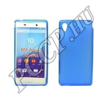 Sony Xperia M4 Aqua kék vékony szilikon hátlap