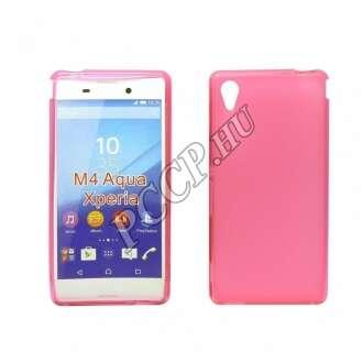 Sony Xperia M4 Aqua pink vékony szilikon hátlap