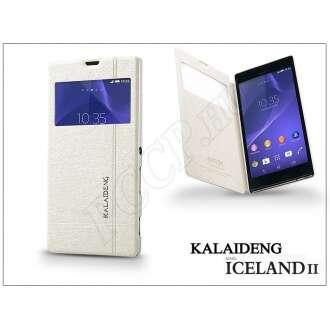 Sony Xperia T3 (D5103) fehér flip tok
