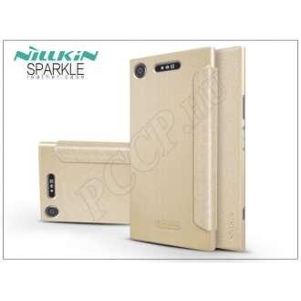 Sony Xperia XZ1 (G8341) arany oldalra nyíló flip tok