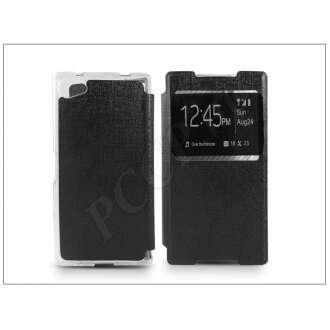 Sony Xperia Z5 Compact (E5803) fekete oldalra nyíló flip tok