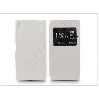 Sony Xperia Z5 fehér oldalra nyíló flip tok