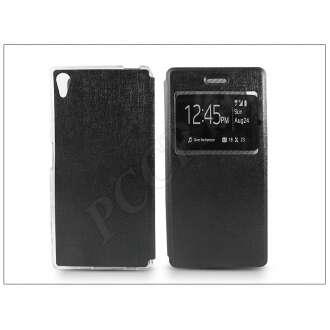 Sony Xperia Z5 fekete oldalra nyíló flip tok