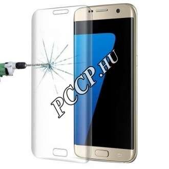 Samsung Galaxy S7 Edge hajlított üveg kijelzővédő fólia