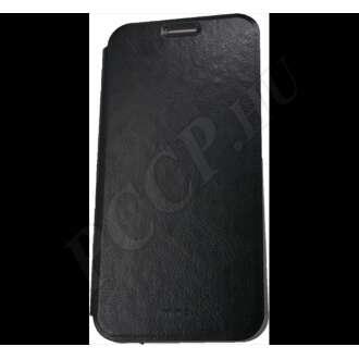 Xiaomi Mi A2 Lite fekete bőr flip tok