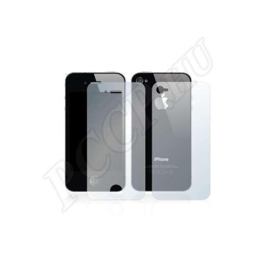 Apple iPhone 4 elő- és hátlap kijelzővédő fólia