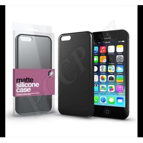 Apple iPhone 5 fekete ultra vékony szilikon hátlap - Xprotector