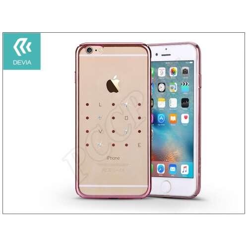 Apple Iphone 6 Plus pink hátap kristállyal