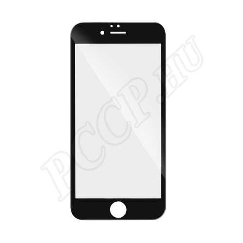 Apple iPhone 6S hajlított üveg kijelzővédő fólia fekete színben