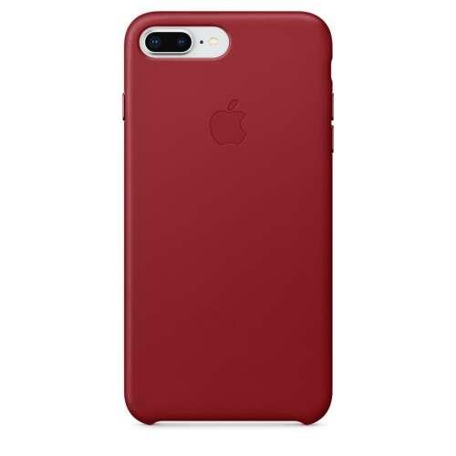 Apple Iphone 7 Plus piros bőr hátlap
