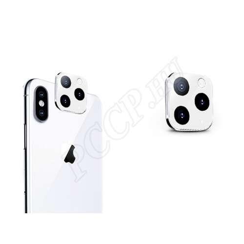 Apple Iphone XS Max fehér (hátsó kamera) üveg kijelzővédő fólia