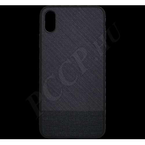 Apple iPhone XS Max fekete szövet hátlap