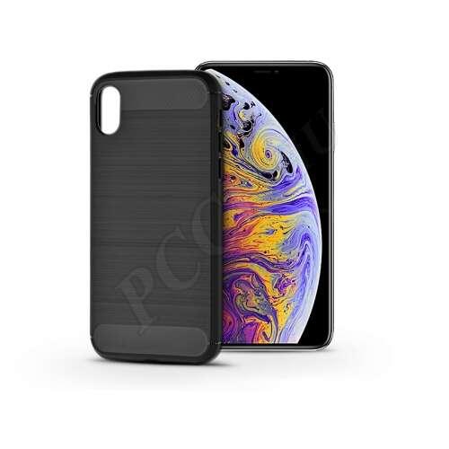 Apple Iphone Xs Max karbonfekete szilikon hátlap