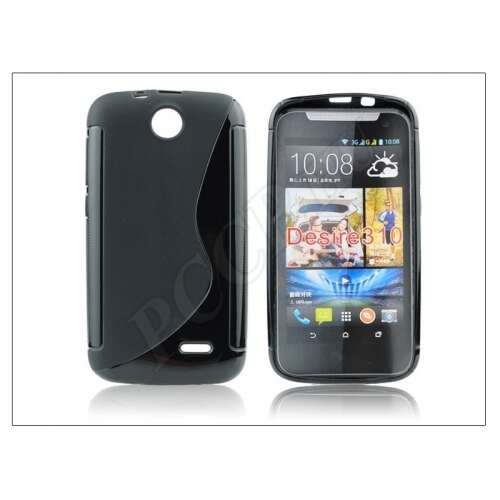 HTC Desire 310 fekete szilikon hátlap