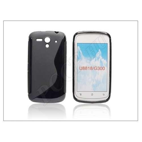 Huawei Ascend G300 fekete szilikon hátlap