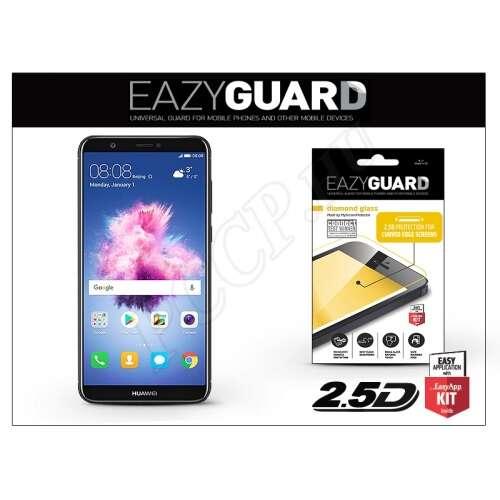 Huawei P Smart gyémántüveg kijelzővédő fólia fekete színben