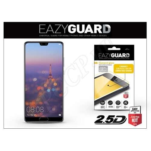Huawei P20 gyémántüveg képernyővédő fólia fekete színben