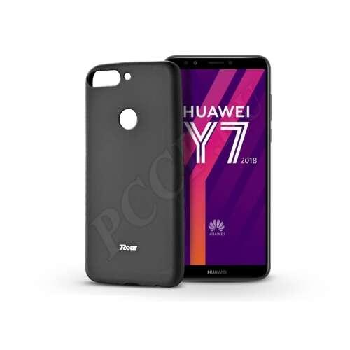 Huawei Y7 (2018) fekete szilikon hátlap