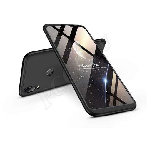 Huawei Y7 (2019) fekete három részből álló védőtok
