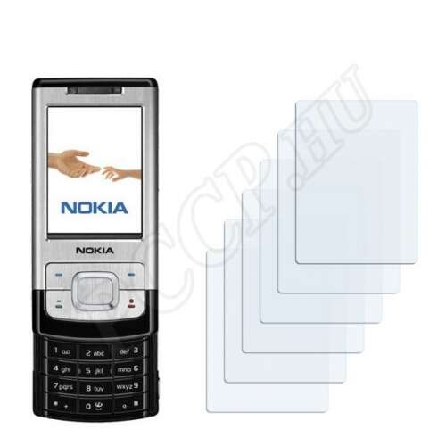 Nokia 6500 slide kijelzővédő fólia