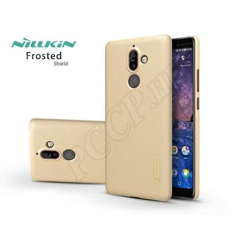 Nokia 7 Plus (2018) arany hátlap kijelzővédő fóliával