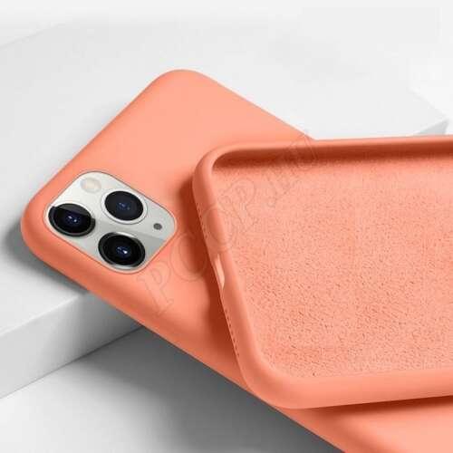 Apple Iphone X narancs prémium szilikon hátlap