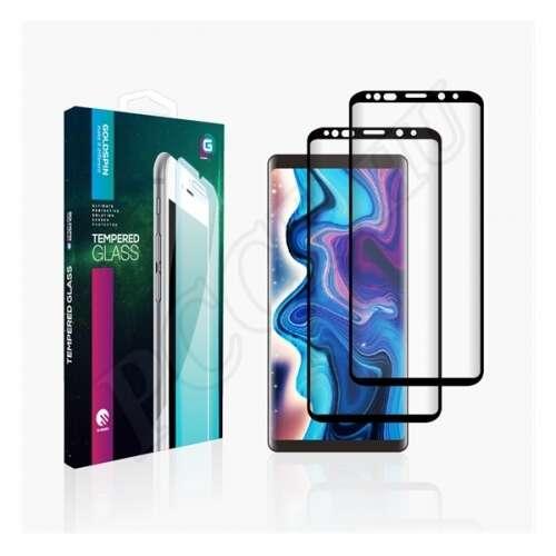 Samsung Galaxy A10 fekete hajlított üveg kijelzővédő fólia