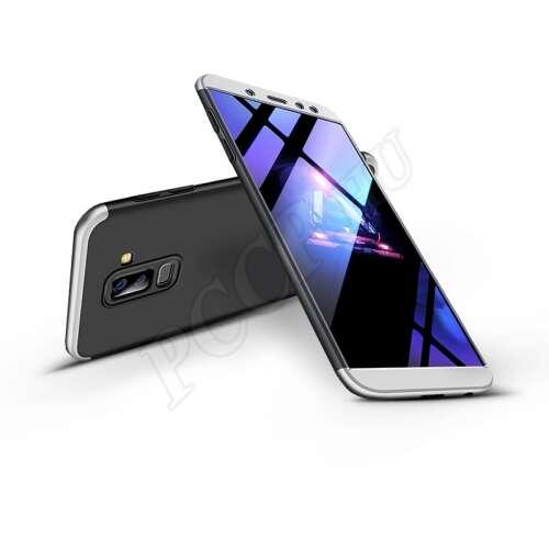 Samsung Galaxy A6 Plus (2018) fekete/ezüst három részből álló védőtok