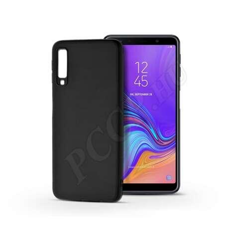 Samsung Galaxy A7 (2018) fekete szilikon hátlap